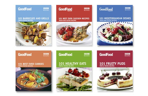Cookery book design by annette peppis graphic designer in richmond bbc good food 101 recipes series forumfinder Choice Image
