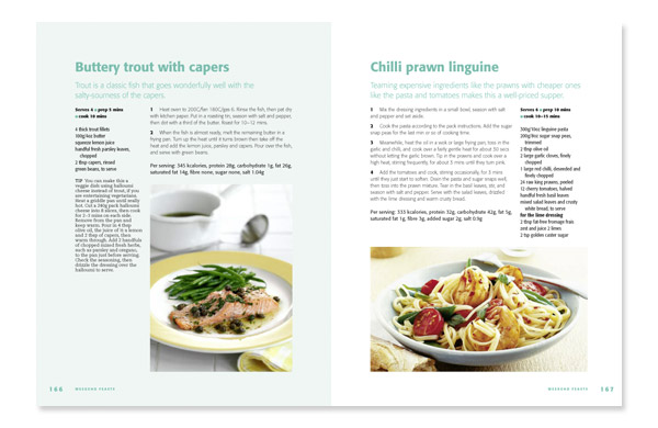 Cookery book design good food family meal planner 4 annette peppis cookery book design spread from bbc good food family meal planner forumfinder Gallery