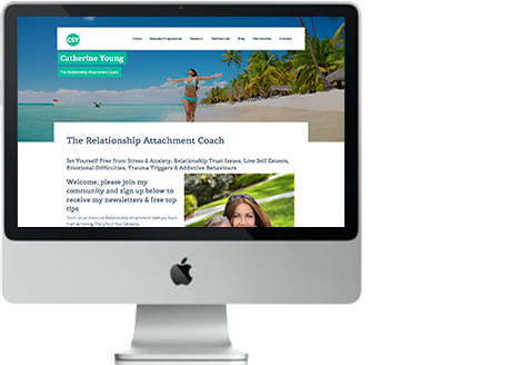 Website for Catherine Young, a relationship attachment coach.