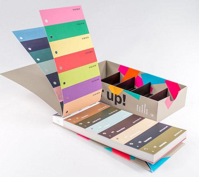 Colour swatch calendar