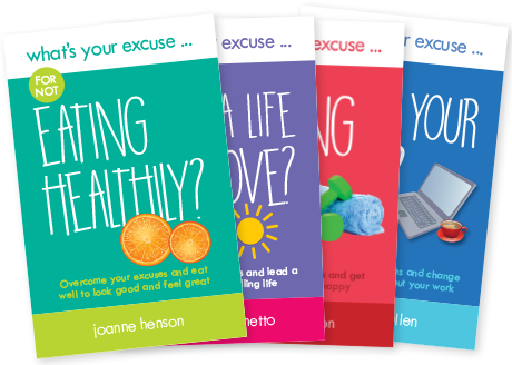 "4 branded titles in the ""what's Your Excuse? series of self-help books,"