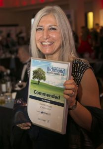 Annette Peppis & Associates wer commended in the Best Website category at the Richmond Business Awards 2016.