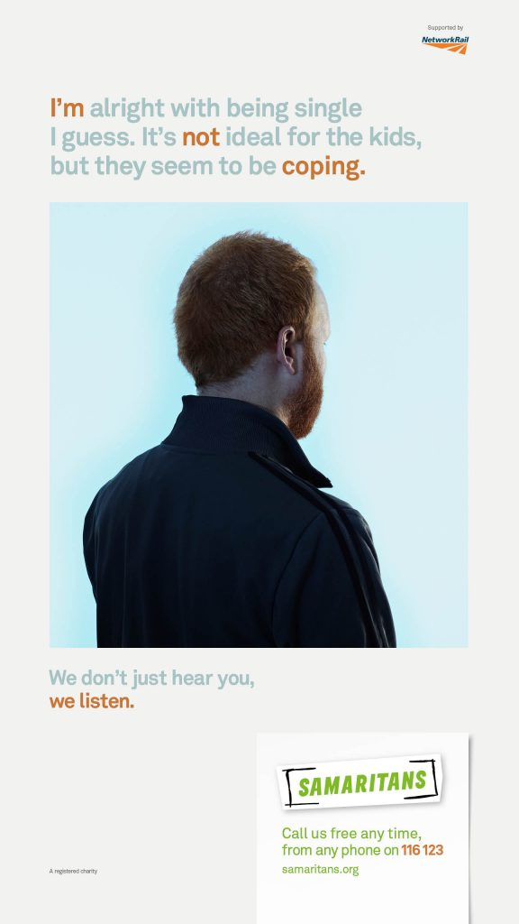 Samaritans We Listen Campaign Poster 1