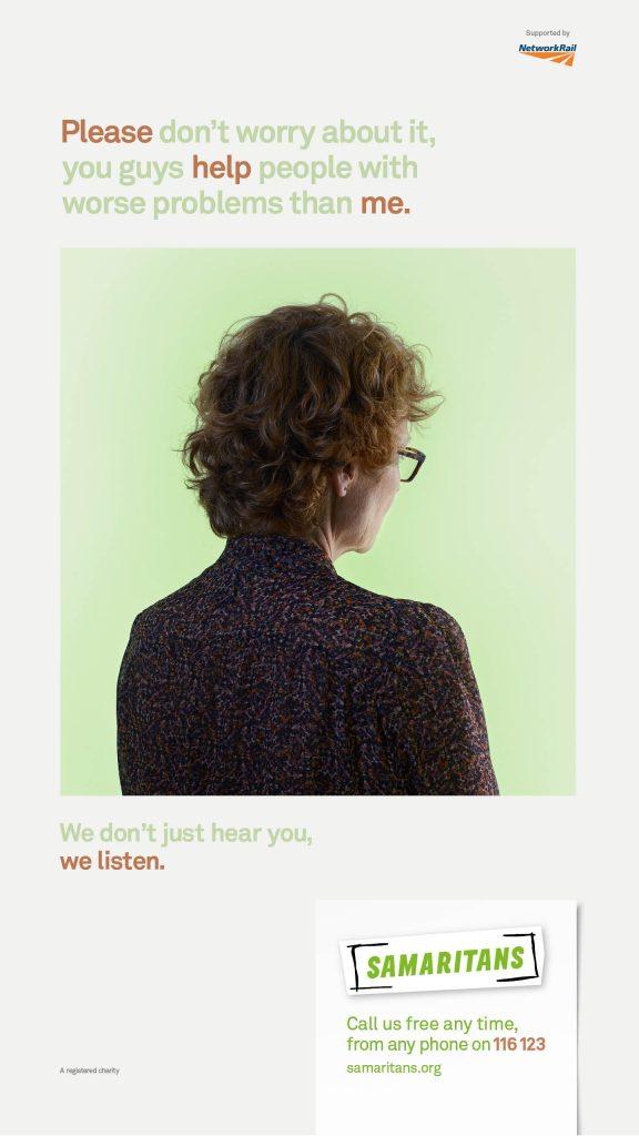 Samaritans We Listen Campaign Poster 5
