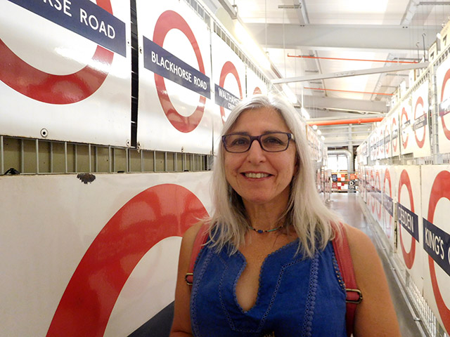Annette Peppis at the London Transport museum in Acton