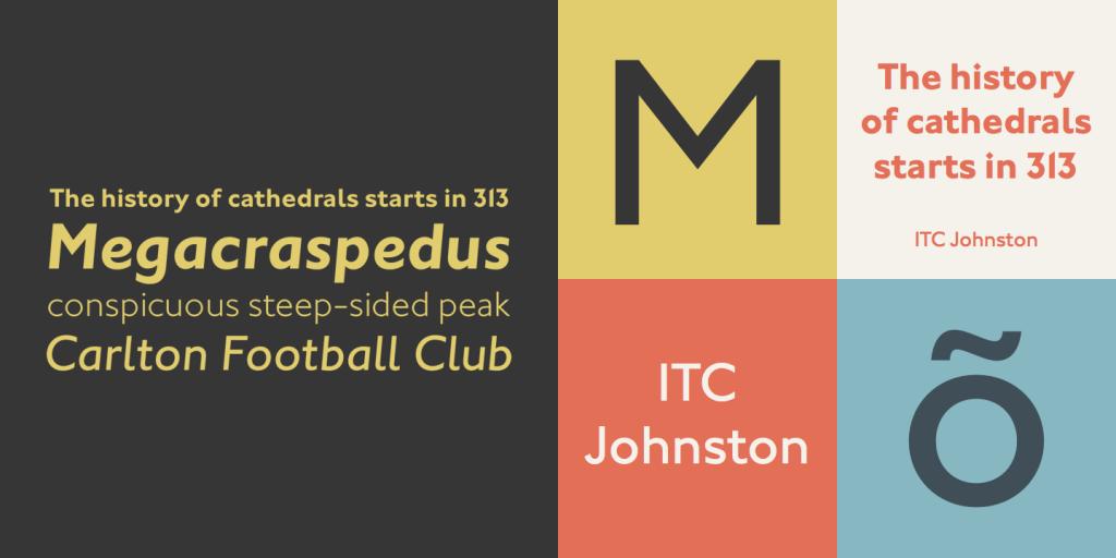 ITC Johnston typeface