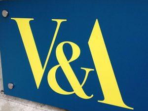V&A sign