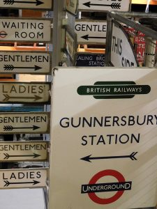 miscellaneous signs at the London Transport museum
