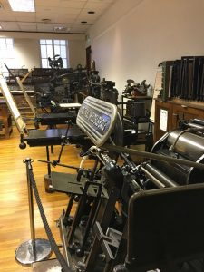 Printing machines at the St Bride print room