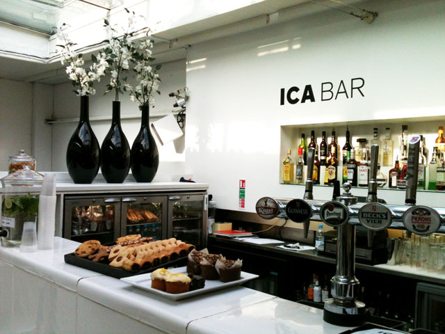 The cafe bar at the ICA.