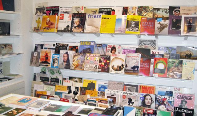 Magazines at the ICA bookshop.