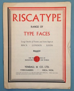Cover of Riscatype catalogue