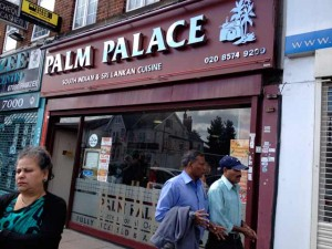 Palm Palace Sri Lankan restaurant in Southall