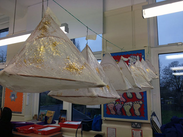 Sacred Heart pupils' lanterns for the Teddington Lantern Procession
