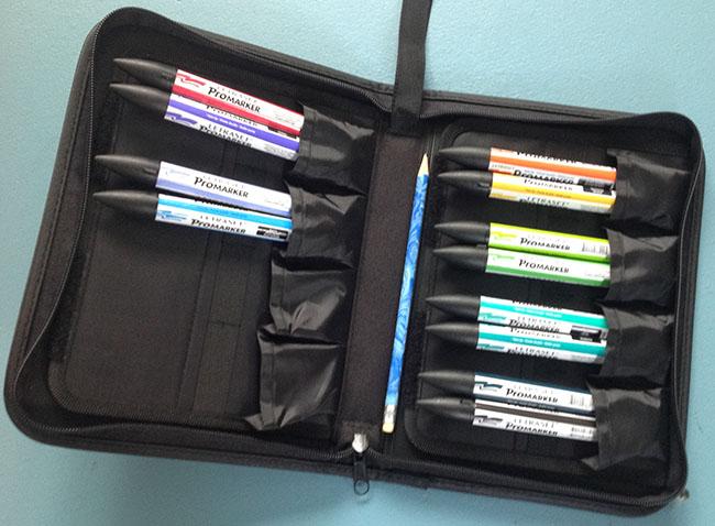 Letraset Pro marker pens