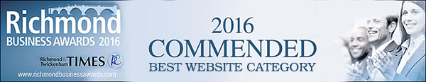 Annette Peppis was commended in the Best Website category in the Richmond Business Awards 2016