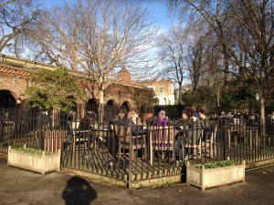 The cafe at Holland Park