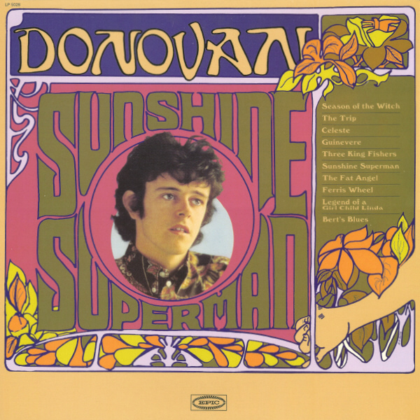 A Donovan album from the 1960s which uses a font similar to Arnold Bocklin.