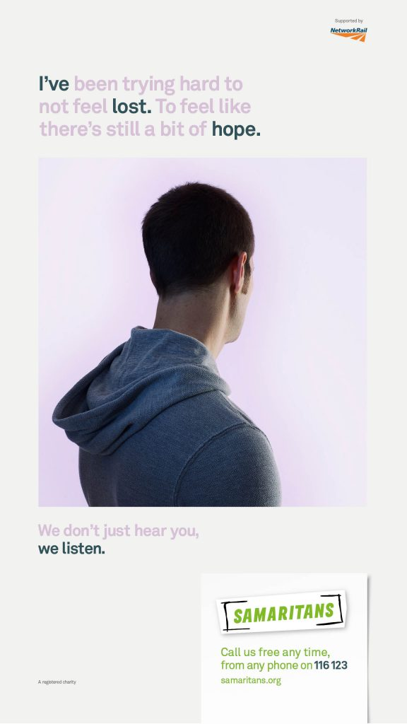 Samaritans We Listen Campaign Poster 2