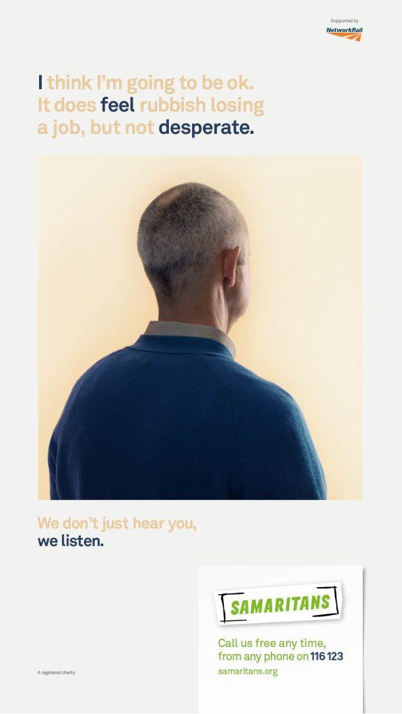 Samaritans We Listen Campaign Poster 3