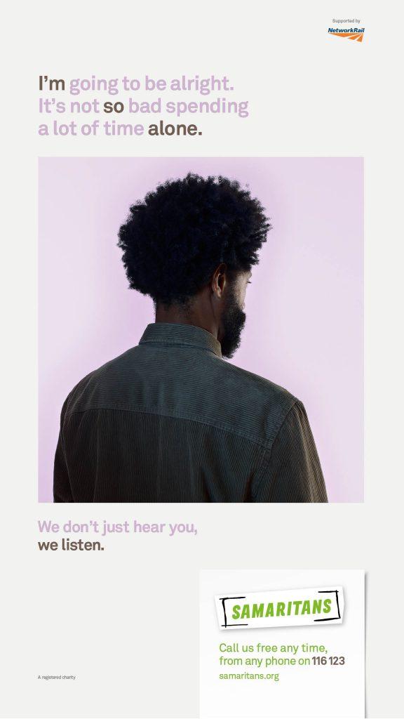 Samaritans We Listen Campaign Poster 4
