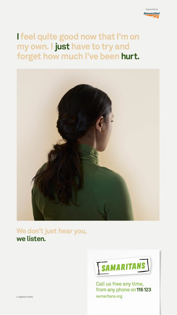Samaritans We Listen Campaign Poster 6