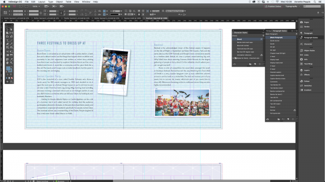 Adobe InDesign screen shot showing stylesheets