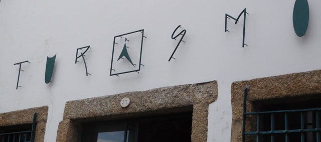 Tourist office fascia in Guimares, Northern Portugal