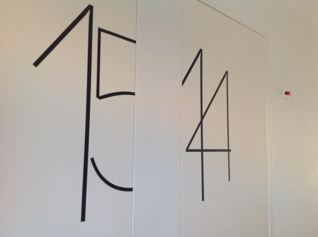 Hotel room numbering