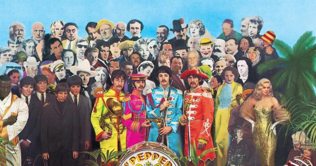 Detail from Sergeant Pepper's Lonely Hearts Club Band album cover.