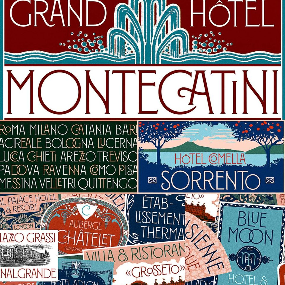Montecatini font graphic