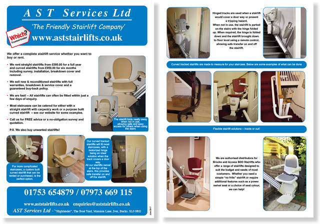 The old AST Stairlifts flyers