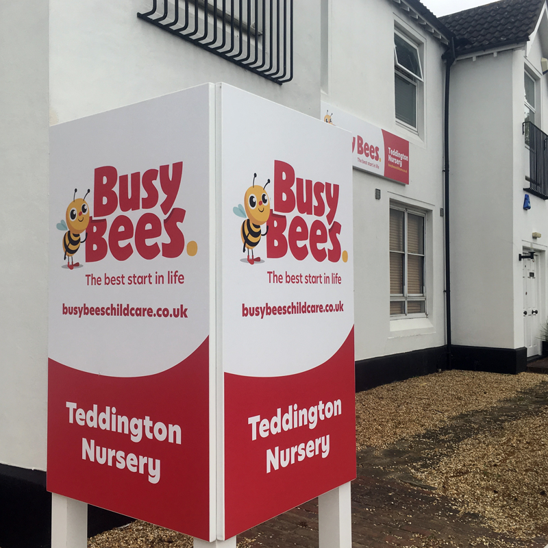 Busy Bees Nursery sign