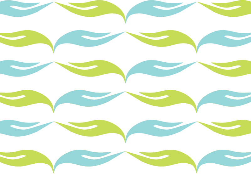 Wave green teal pattern