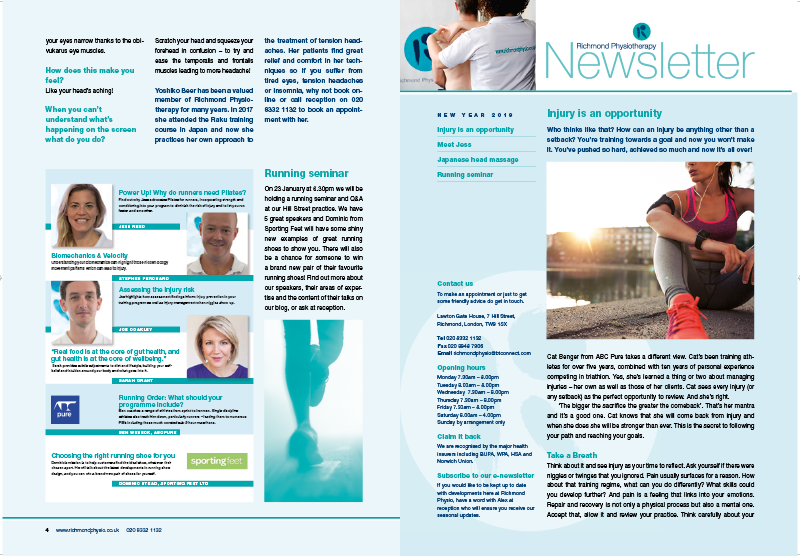 Print Layout Fitness Newsletter