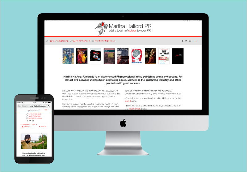PR Website Layout Design