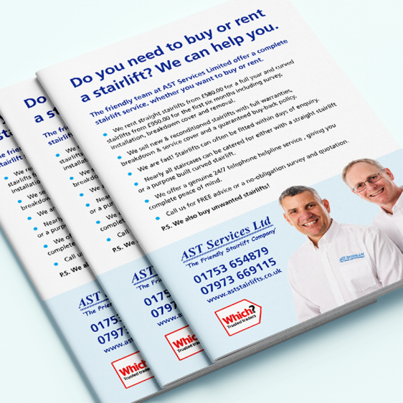 Brochures designed for AST stairlifts