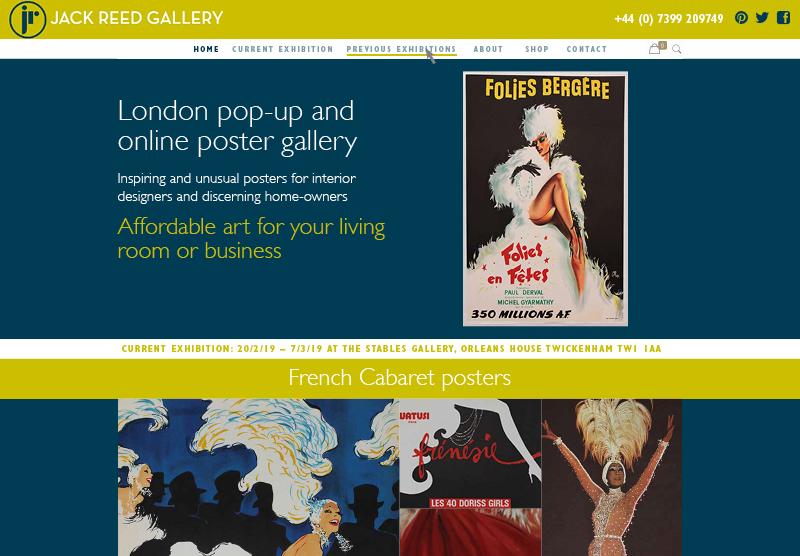 Website for poster shop