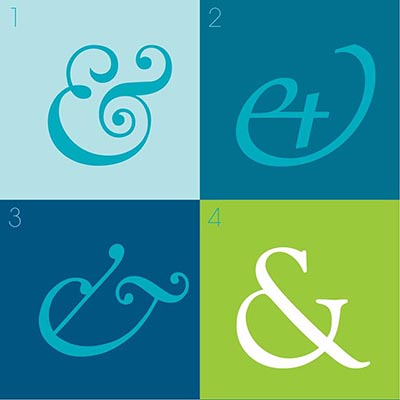 Four of my top 10 ampersands