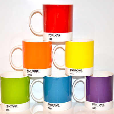 Colourful Pantone mugs
