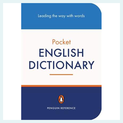 The cover design of the Penguin Dictionary series, by David Pearson