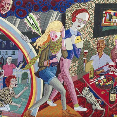 The Vanity of Small Differences panel 3, tapestry by Grayson Perry