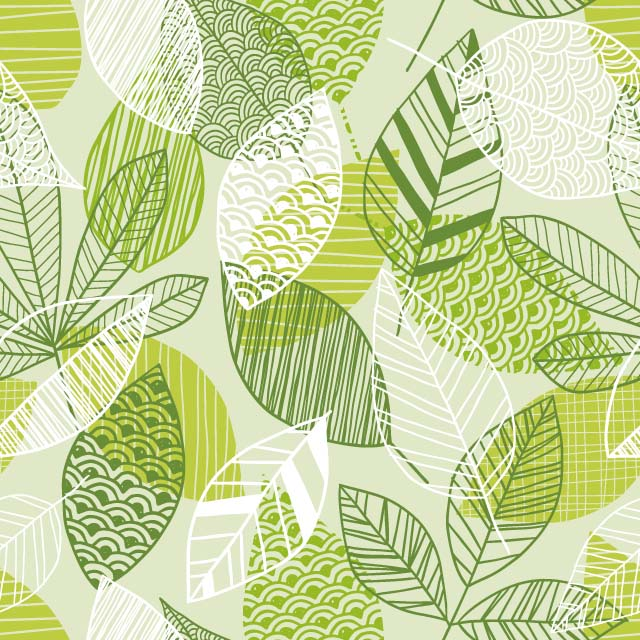 Leaf pattern used on the Lensbury's All Day menu design