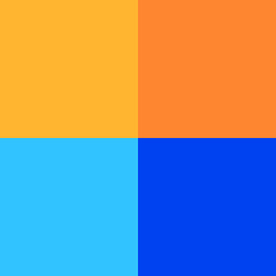 Orange and blue are complimentary colours