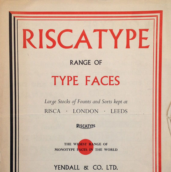 Riscatype catalogue cover
