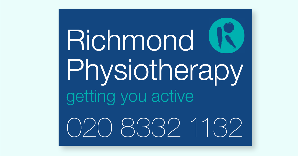 An external sign for Richmond Physiotherapy's Hill Street practice.