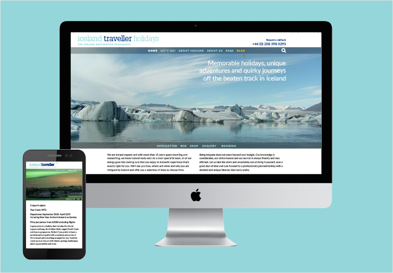 Iceland Traveller website design