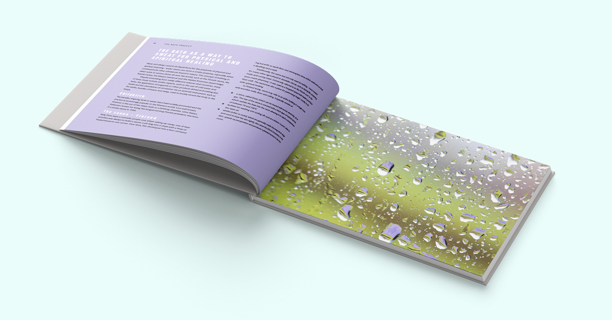 Design of a typical spread in the book.