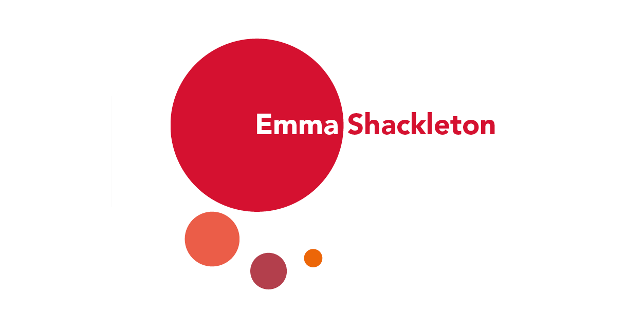 Logo design for Emma Shackleton, writer, researcher and editor