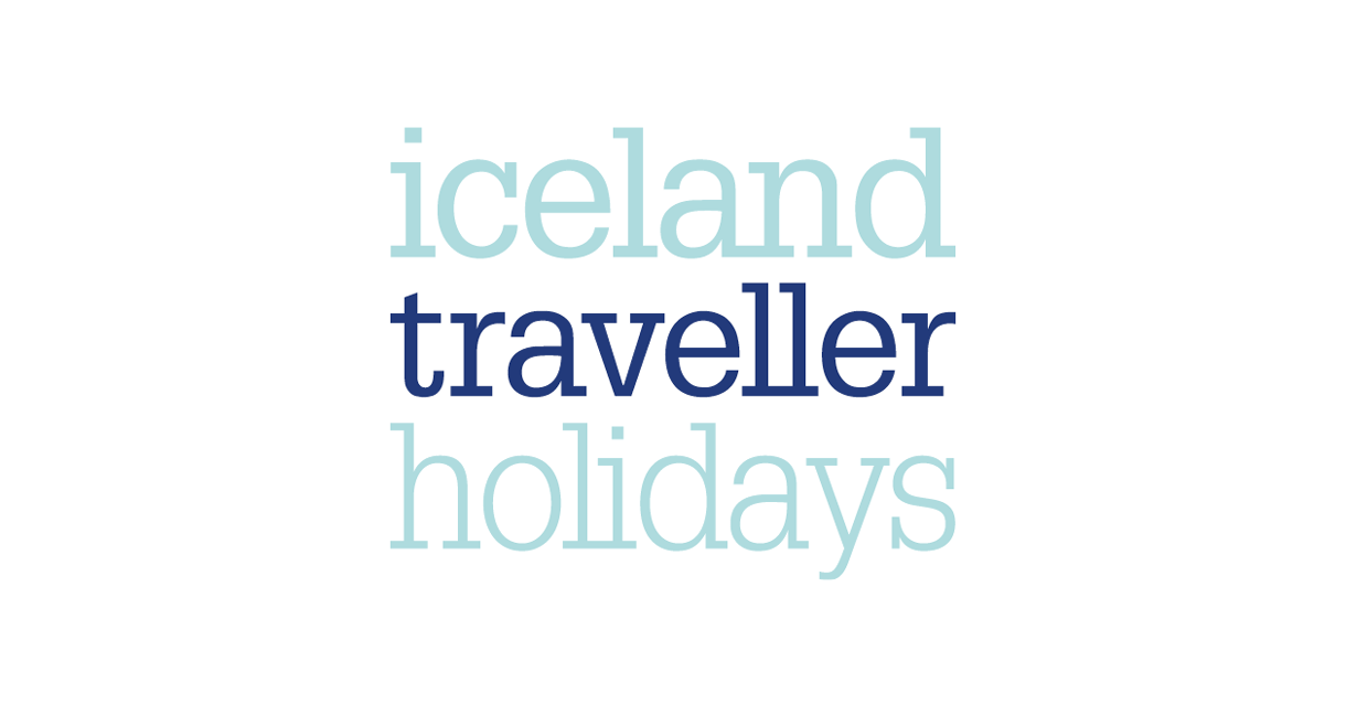 Logo design (stacked version) for Iceland Traveller Holidays.